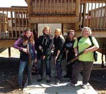 Ladies polish shooting skills at North River Retreat.